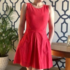 GAP Linen Bright Coral Dress